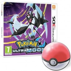 Pokemon Ultra Moon with Free Poke Ball Pin Badge (Nintendo 3DS)