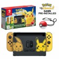 Nintendo Switch Let's Go Pikachu Limited Edition Console with Joycon, Pre-Installed Pokémon: Let's Go Pikachu