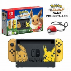 Nintendo Switch Let's Go Eevee Limited Edition Console with Joycon, Pre-Installed Pokémon: Let's Go Pikachu