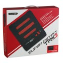 Retro Bit Super Retro Trio 3 in 1 Console Red/Black, NES/SNES/Mega Drive PAL Version