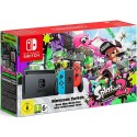 Nintendo Switch Neon Red/Blue Console with Splatoon 2,Mario Kart 8 Deluxe & Ultra Street Fighter II