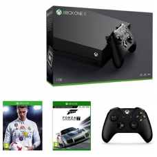 Xbox One X 1TB Console with Fifa 18, Forza 7 Motorsport & Extra Control Pad