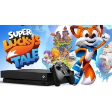 Xbox One X 1TB Console with Super Lucky's Tale